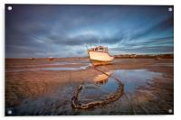 """""""CATCHING THE LIGHT Pt1 (Boats on the shore), Acrylic Print"""