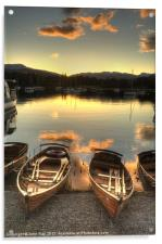 Boats on Windermere, Acrylic Print