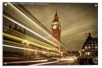 Houses of Parliament at night, London. , Acrylic Print