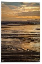 On Golden Sea, Acrylic Print