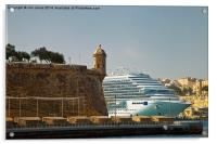 Grand Harbour Valletta, Acrylic Print