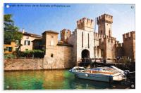 Scaliger Castle, Sirmione with an artistic filter, Acrylic Print