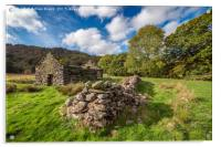 Welsh Cottage Ruin, Acrylic Print