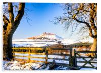 Roseberry Topping - Snow Topping, Acrylic Print