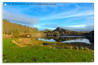 Cawfield Quarry and Hadrian's Wall, Northumberland, Acrylic Print