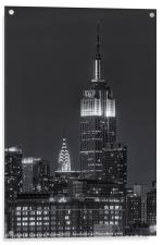 Empire State and Chrysler Buildings IV, Acrylic Print