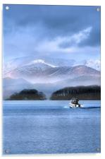 Winter over coniston lake, Acrylic Print