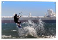 Kite surfing Cape Town, Acrylic Print