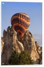 Hot air Balloon and Limestone, Acrylic Print