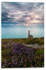 Wheal Coates Mine Sunset, Acrylic Print