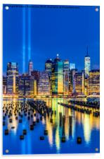 Manhattan NYC 911 Tribute, Acrylic Print