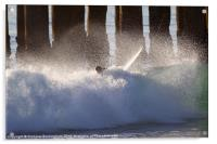 Surfer Wipe Out, Acrylic Print