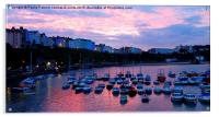 Sunset over Tenby harbour, Acrylic Print