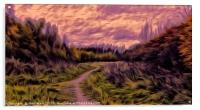 A Gentle Walk at sunset, Acrylic Print