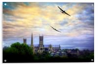 Lincoln Cathederal Flyby, Acrylic Print