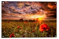 Lest We Forget RAF, Acrylic Print