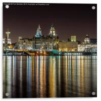 The Three Graces at night, Acrylic Print