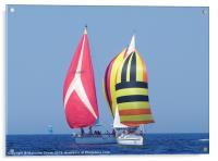Spinnakers at close quarters, Acrylic Print