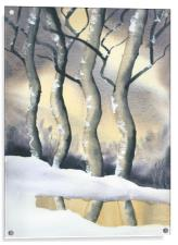 Frozen Forest, Acrylic Print