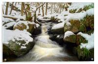 Winter In Padley Gorge, Acrylic Print
