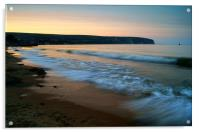 Sunset over Swanage Bay, Dorset, Acrylic Print