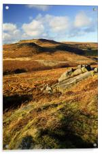 View from Burbage Rocks, Acrylic Print