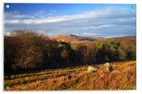 Longshaw View across Burbage Valley, Acrylic Print