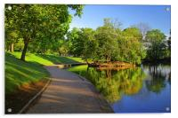 Hillsborough Park Lake, Sheffield, Acrylic Print