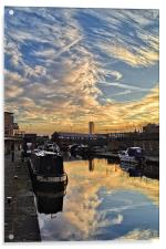Sheffield Canal Sunset, Acrylic Print