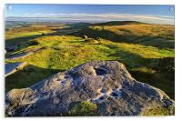 View from Higger Tor Towards Stanage Edge, Acrylic Print
