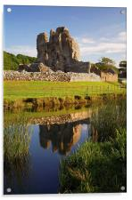 Ogmore Castle Reflections, Acrylic Print