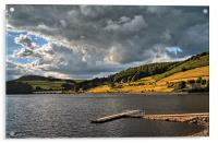 Storm Clouds Gathering over Ladybower , Acrylic Print