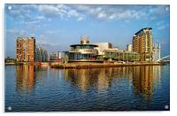 Salford Quays Reflections, Acrylic Print
