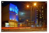 Moor Street Sub Station and Velocity Tower , Acrylic Print