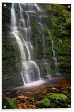 Middle Black Clough Waterfall, Acrylic Print