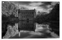 Gibson Mill Reflections , Acrylic Print