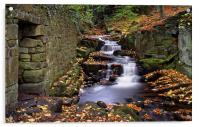 Lumsdale Waterfalls and Mill , Acrylic Print