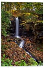 Cascading Falls in Lumsdale , Acrylic Print