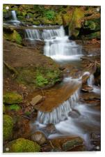 Lumsdale Cascading Falls, Acrylic Print