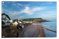 Evening Light over Sidmouth                      , Acrylic Print