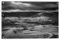 The Long and Winding Road  in Mono                , Acrylic Print