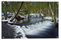 Holme Head Weir, Rivelin                          , Acrylic Print