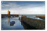 Lynmouth Harbour                       , Acrylic Print