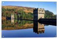 Derwent Dam and Reservoir, Acrylic Print