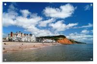 Sidmouth Seafront & Coastline                  , Acrylic Print