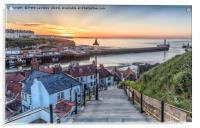 Whitby the 99 Steps, Acrylic Print