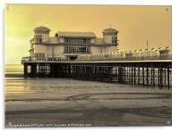 GRAND PIER WESTON-SUPER MARE, Acrylic Print
