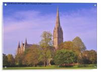 SALISBURY CATHEDRAL SPIRE, Acrylic Print