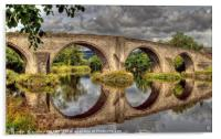Stirling Old Bridge Reflections, Acrylic Print