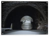 Snowing Oxford Canal Newbold Tunnel, Acrylic Print
